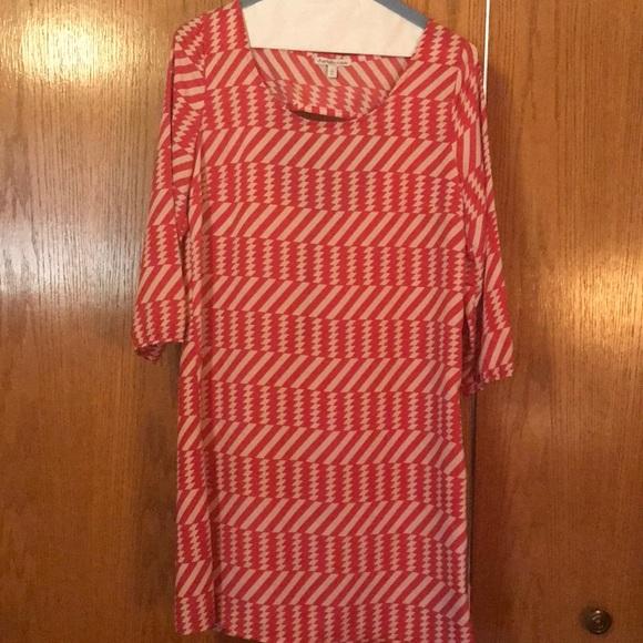 Charlotte Russe Dresses & Skirts - Pink/white  knee length dress
